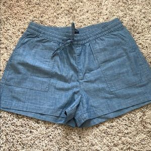J. Crew Factory chambray shorts
